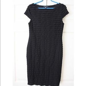 Banana Republic black ruffle dress